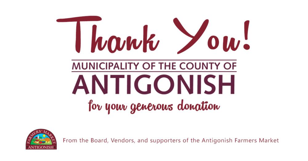 Thank you to Antigonish County